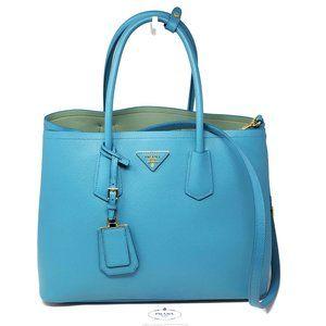 100% Auth Prada Saffiano Cuir Large Satchel Bag